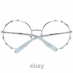 Swarovski SK5380 Women Silver Optical Frame Metal Crystal Full Rim Round Eyewear
