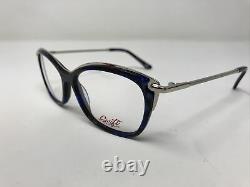 Swift Vision Eyeglasses Frames CLASSY C1 Silver Blue 54-15-140 Full Rim TY03