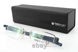 TAG Heuer Glasses Th 7207 006 51 20 135 Silver Blue Luxury half-Rim Frame France