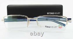 TAG Heuer Glasses Th 8204 003 53 18 140 Silver Blue Black Luxury half-Rim Frame