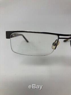TOM FORD TF5112 010 Eyeglasses Frame Italy Half Rim 54-17-135 Silver/Tort S773