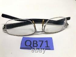 Tag Heuer Eyeglasses Frame TH 8202 001 51-17 140 Black Silver Half Rim QB71