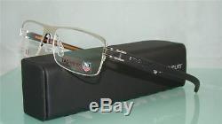 Tag Heuer TH 7624 004 Silver Black & Orange Half Rim Eyeglasses Frames Size 57