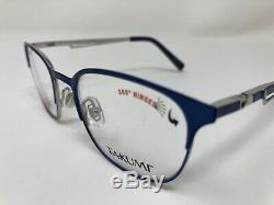 Takumi TK1099 50 Kids Eyeglasses Frame 44-17-120 Silver/Blue Full Rim FK45
