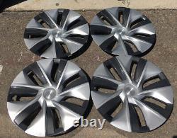 Tesla Model Y 19 Gemini Wheel Rim Covers Hub Caps Silver