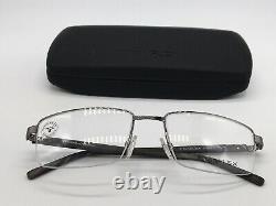 Titanflex Eschenbach 820699 37 Silbe4 half Rim Wood Look 56-19 Large + Case