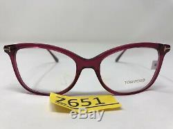 Tom Ford Eyeglasses Frame Italy TF5510 081 52-17-140 Pink/Silver Full Rim Z651