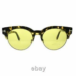 Tom Ford Henri TF0598 55N Havana Square Semi Rim Unisex 100% UV Sunglasses