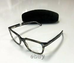Tom Ford TF 5304 Shiny Striped Grey 093 Full Rim Silver'T' Eyeglass RX / Frame