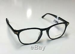 Tom Ford TF 5505-F Shiny Black 001 Full Rim Silver'T' Logo Eyeglass / RX Frame