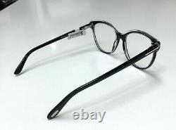 Tom Ford TF 5618 Shiny Black 001 Full Rim Silver'T' Logo Eyeglass RX Frame NWT