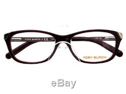 Tory Burch Eyeglasses TY 2005 835 Burgundy Silver Full Rim Frame 5115 135