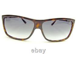 Used Gucci Sunglasses Glasses Side Logo Full Rim Black Brown Silver Plastic