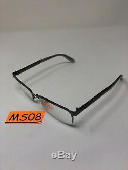 VERSACE 1241 1264 Eyeglasses Frame 54-18-145 Half Rim Silver Polish MS08