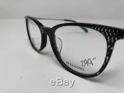 Vera Wang Eyeglasses Frame VA32 BL 52-18-135 Black/Silver Full Rim TI70