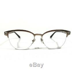 Versace Eyeglasses Glasses Frames Brown Silver Half Rim Medusa MOD. 1235 1375 140