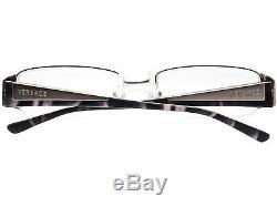 Versace Eyeglasses MOD. 1109 1000 Silver Half Rim Frame Italy 5218 135