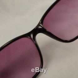 Vintage FENDI Sunglasses F973 Full Rim Plastic Wayfarer Frames Black Silver Case