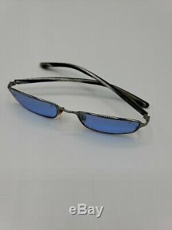 Vintage Gucci Eyeglasses GG 1667 841 Silver/Marble Full Rim Frame Italy