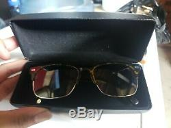 Warby Parker Ames 3200 HORN-RIMMED POLARIZED RX SUNGLASSES 54-18-145 & Case