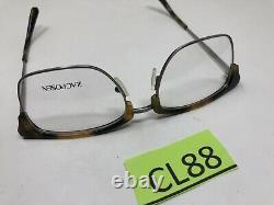 Zac Posen Eyeglasses Frame SACHA TORTOISE 53-18-140 Silver Full Rim CL88