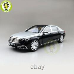 1/18 Norev Benz Maybach S650 2018 Diecast Model Car Toys Boys Cadeaux Noir/argent