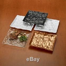 120ct. Plaque De Table Carrée 9 Couleurs En Plastique Unique Design Jetables-réutilisables