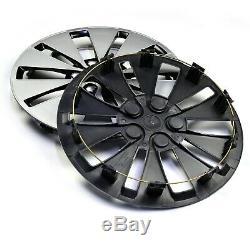 14 Wheel Hub Centre Caps Cover Set De 4 Pour 14 Pouces Jante Pleine Roue 10 Spoke