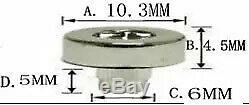 150 X Argent Chromé Plastique Roue Rivets Nuts Rim Remplacement Des Lèvres En Alliage Stud J5