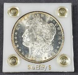 1883-cc $ 1 Morgan Silver Dollar Nice Titulaire De Plastique Jante Ton Original # J150