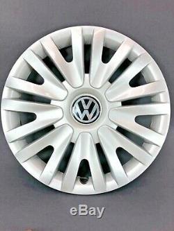 2010-2014 Volkswagen Vw Golf 15 Argent Enjoliveurs Avec Insert Lot De 4