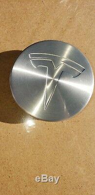 2012 2018 Tesla Modèle S Roue De Jante Centre Moyeu Cap. Hubcap Argenté Brillant Oem
