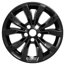 4 Gloss Hub Noir 17 Roues Skins Capitales Rim Housses Pour 2015-2018 Chrysler 30