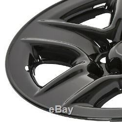 4 Noir 17 Roues Skins Hub Enjoliveurs Rim Peau Pour 2006-2012 Toyota Rav4