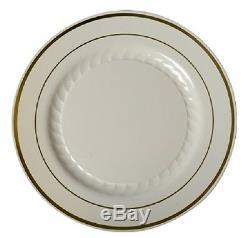48 Assiettes En Plastique Chine 10 En Porcelaine Blanche Avec Une Fête De Mariage En Argent