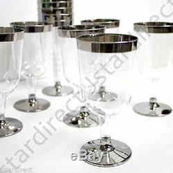5,5 Oz 60 120 180 240 300 Argent Flûte À Vin En Plastique Bordé De Vin Flûte