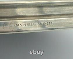6 Alvin Sterling Argent Cordials & Sterling Rimmed Plateau En Plastique Laminé