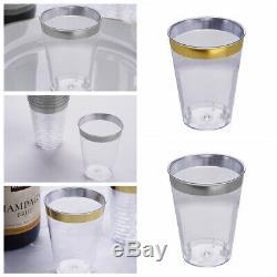 7 Oz Jetables Bouteilles De Vin En Plastique Transparent Jante Gobelets Fête De Mariage En Gros