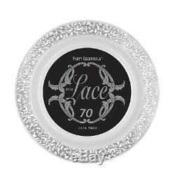 (70 Pièces 70, Jantes En Dentelle Argentée) Party Essentials 70 Pièces En Plastique Dur 19 CM
