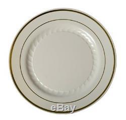 75 Dîner Salade Dessert Plaque De Table Assortiment Special De Mariage Jetable En Plastique