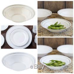 8 Oz 6,25 Bols En Plastique Jante Partie De Mariage Jetable Vaisselle En Gros