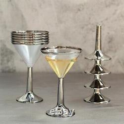 Argent Clair Jante 5 Oz Verres En Plastique En Verre À Cocktail Martini