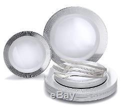 Assiette En Plastique Jetable Occasions 720 Pcs / 120 Invité Et