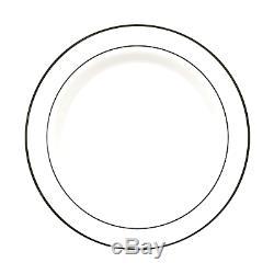 Assiettes En Plastique Blanches Avec Bordure En Argent, Party Essentials N939911, 9, Paquet De 240