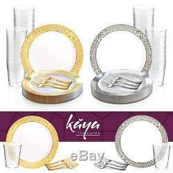 Assiettes En Plastique Jetables De Conception De Diamant De Paquet De Partie De Buffet De Vaisselle En Plastique Jetable