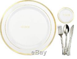 Assiettes En Plastique Jetables Fête De Mariage Argent Jante Argent Jante Or