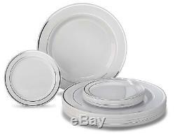Assiettes En Plastique Jetables Occasions Set 120 X 10,25 '' Dîner + 120 X