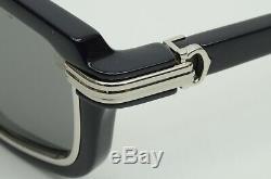 Authentique Cartier Lunettes De Soleil Vertigo 54 25 135 Navy Silver Frame Rim Louis Gt V2