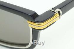 Authentique Cartier Lunettes De Soleil Vertigo 54 25 135 Navy Silver Frame Rim Louis Yg Gt