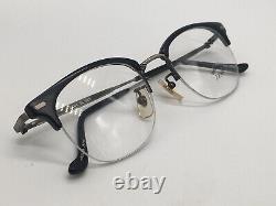 Bada Bl 988 Clubmaster Japon Black Silver True Vintage Moitié Rim 48-22 Moyen